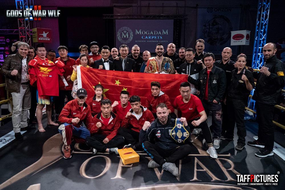 当地时间2019年3月24日武林风& GODS OF WAR 12合作展开对抗赛